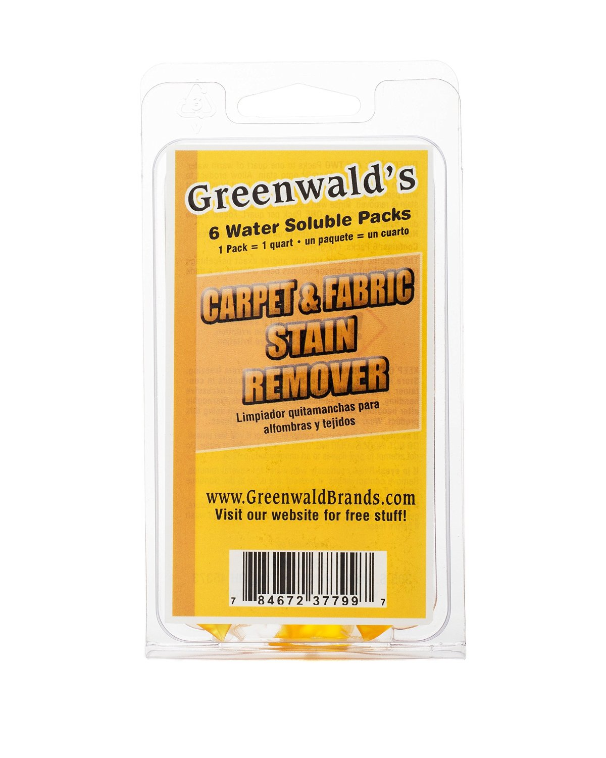 Sofa Fabric Stain Remover: Greenwald's Carpet & Fabric Stain Remover 6-Pack Refills